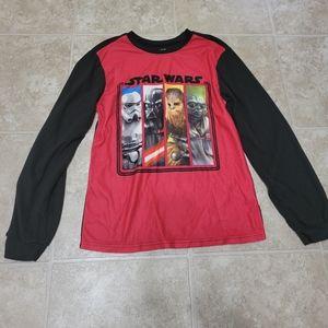 5/$10 Star Wars 14/16 Yoda Fleece PJ Top *Holes*